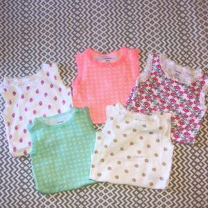 Set of 5 Carter's Short Sleeve Onesies